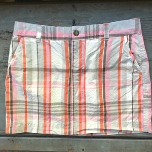 Old navy plaid skirt size 6